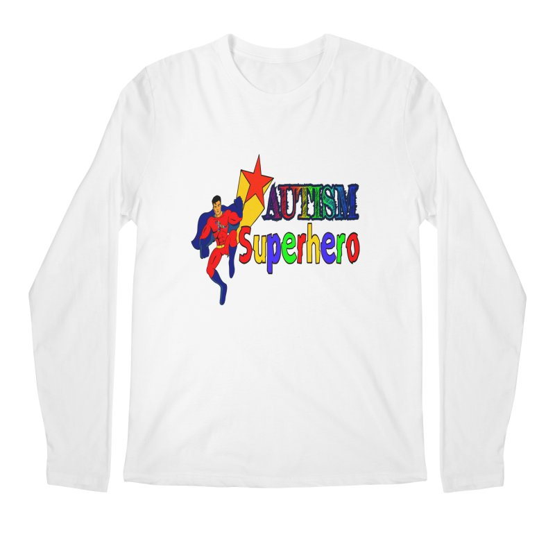 Autism Superhero Men's Regular Longsleeve T-Shirt by Divinitium's Clothing and Apparel