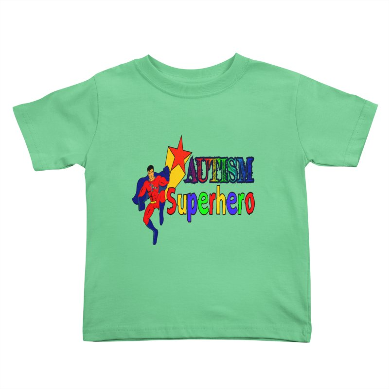 Autism Superhero Kids Toddler T-Shirt by Divinitium's Clothing and Apparel