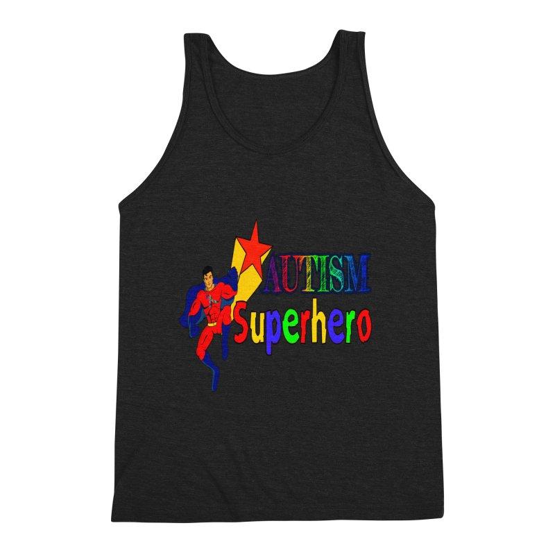 Autism Superhero Men's Tank by Divinitium's Clothing and Apparel