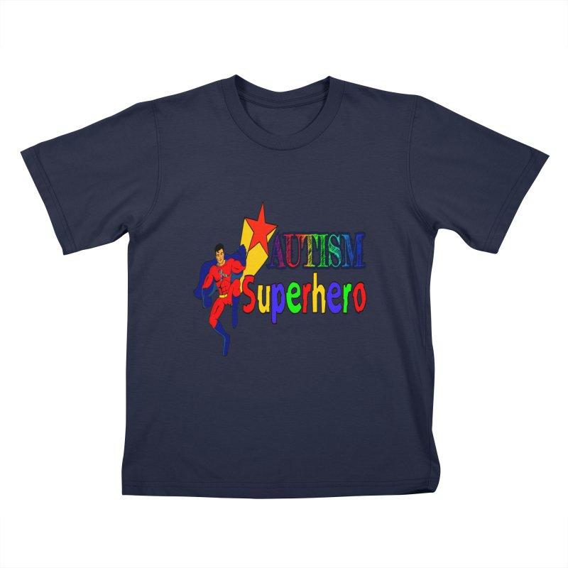 Autism Superhero Kids T-Shirt by Divinitium's Clothing and Apparel