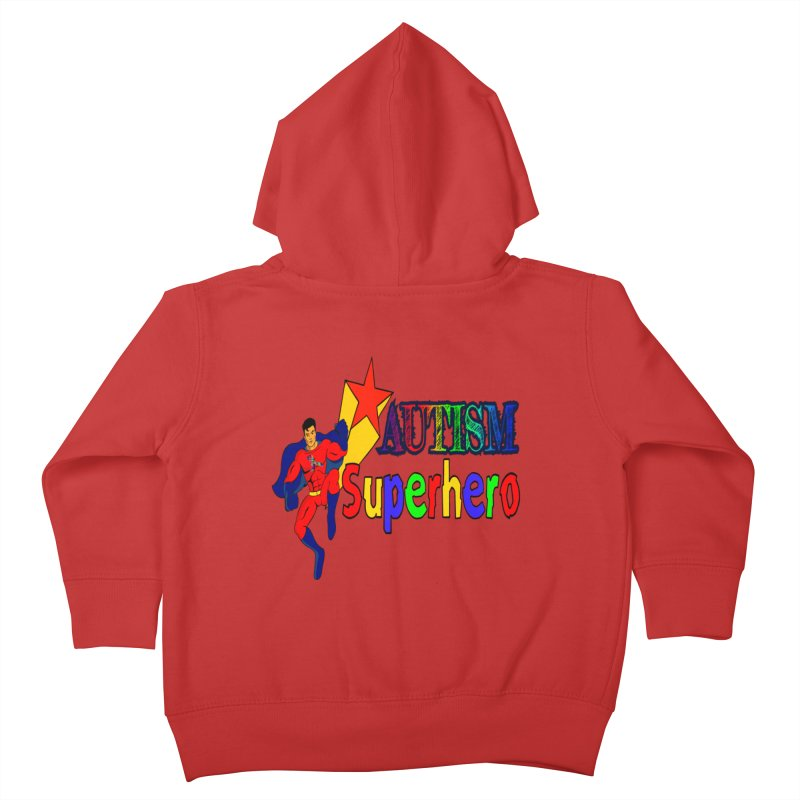 Autism Superhero Kids Toddler Zip-Up Hoody by Divinitium's Clothing and Apparel