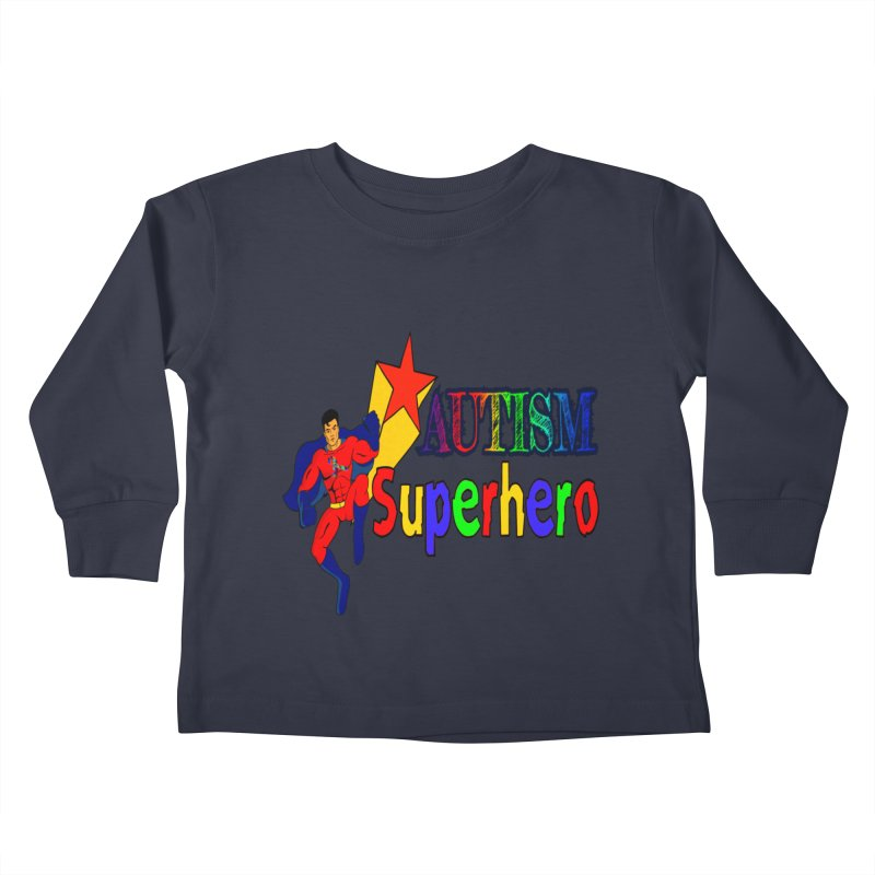 Autism Superhero Kids Toddler Longsleeve T-Shirt by Divinitium's Clothing and Apparel