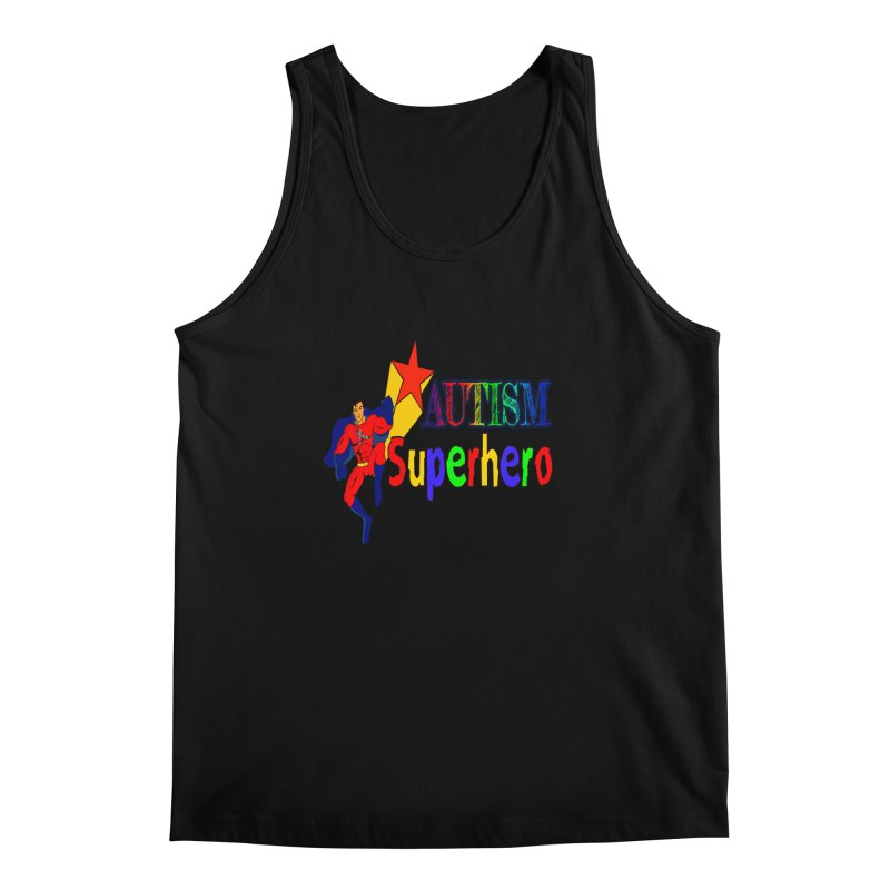 Autism Superhero Men's Regular Tank by Divinitium's Clothing and Apparel