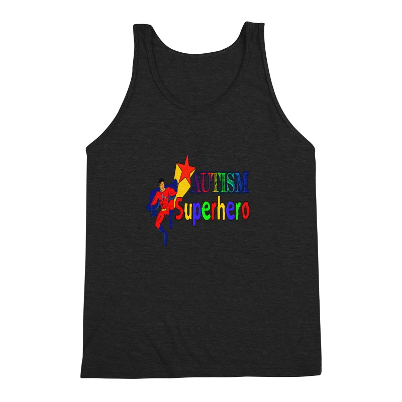Autism Superhero Men's Triblend Tank by Divinitium's Clothing and Apparel
