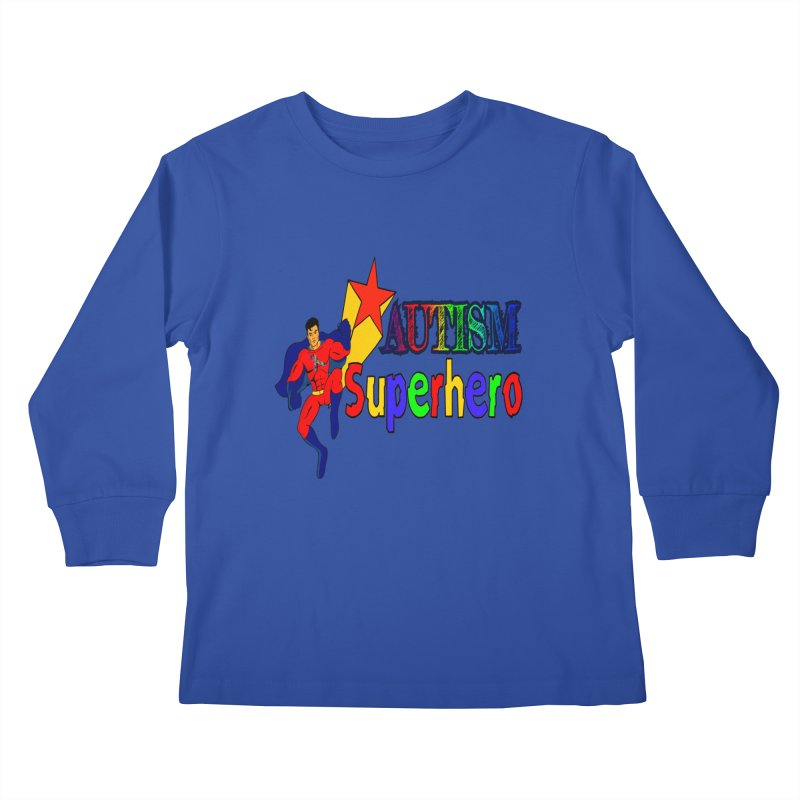 Autism Superhero Kids Longsleeve T-Shirt by Divinitium's Clothing and Apparel