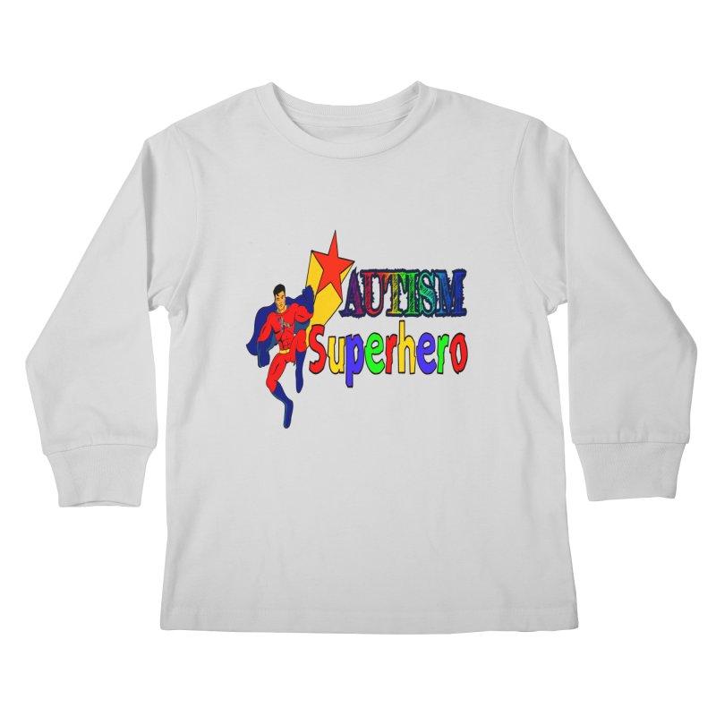 Autism Superhero Kids Longsleeve T-Shirt by Divinitium's Clothing and Apparel