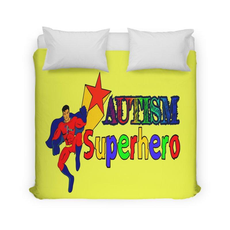 Autism Superhero Home Duvet by Divinitium's Clothing and Apparel