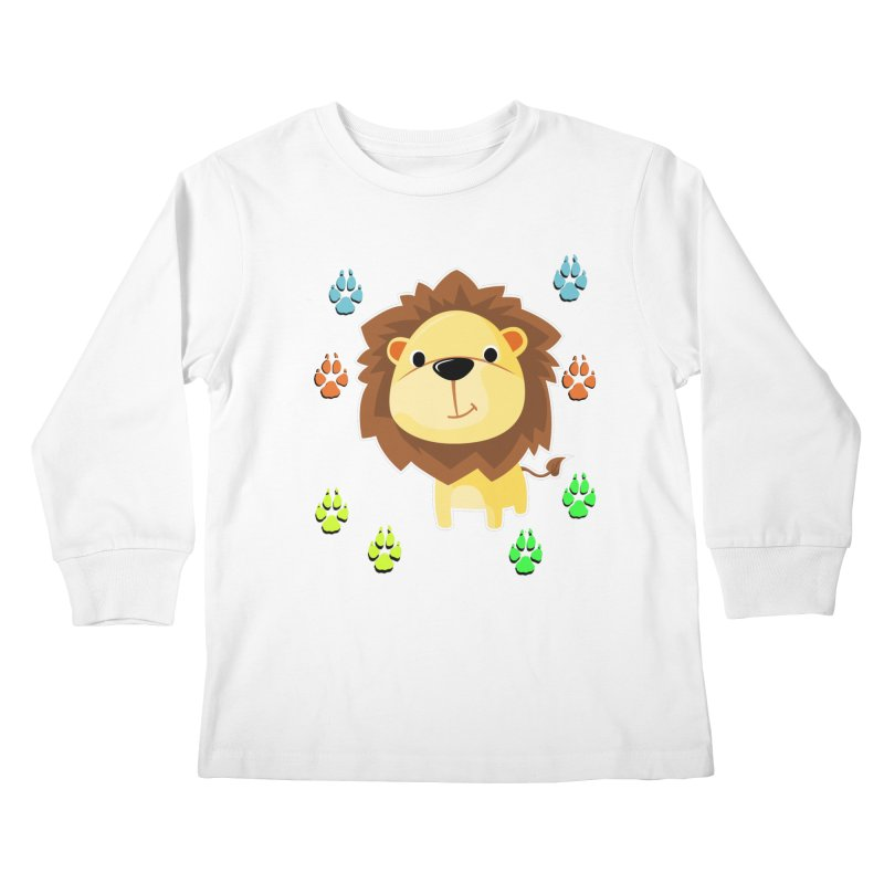 Purrrfect Cuddles Kids Longsleeve T-Shirt by Divinitium's Clothing and Apparel