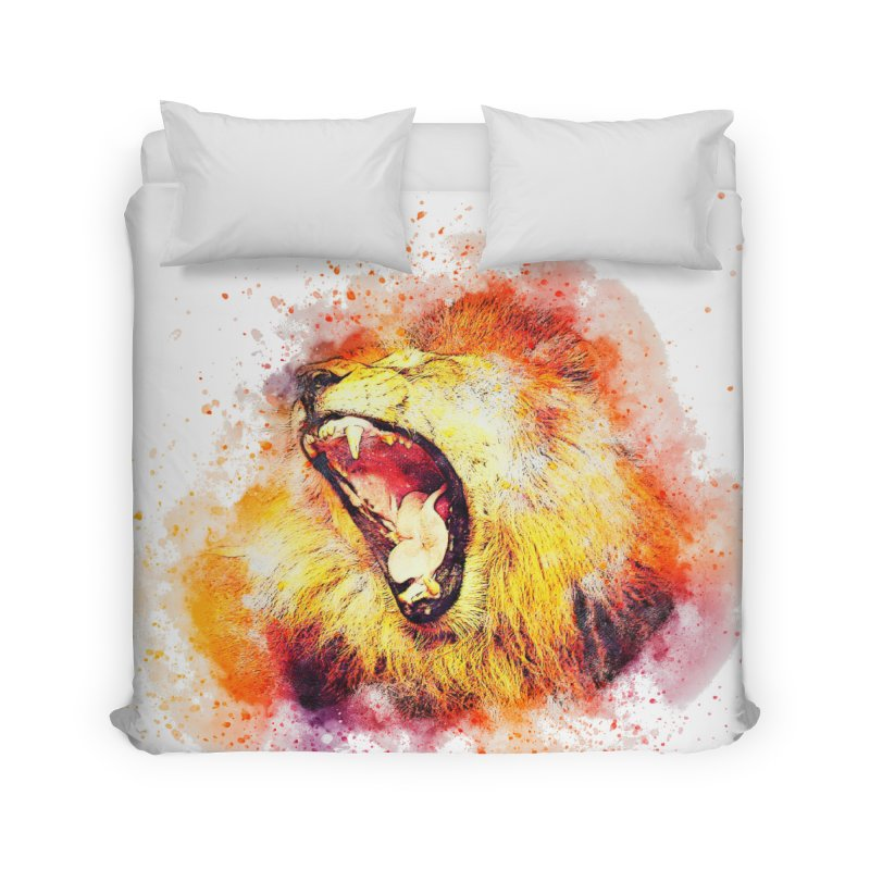Let Them Hear You Roar Home Duvet by Divinitium's Clothing and Apparel