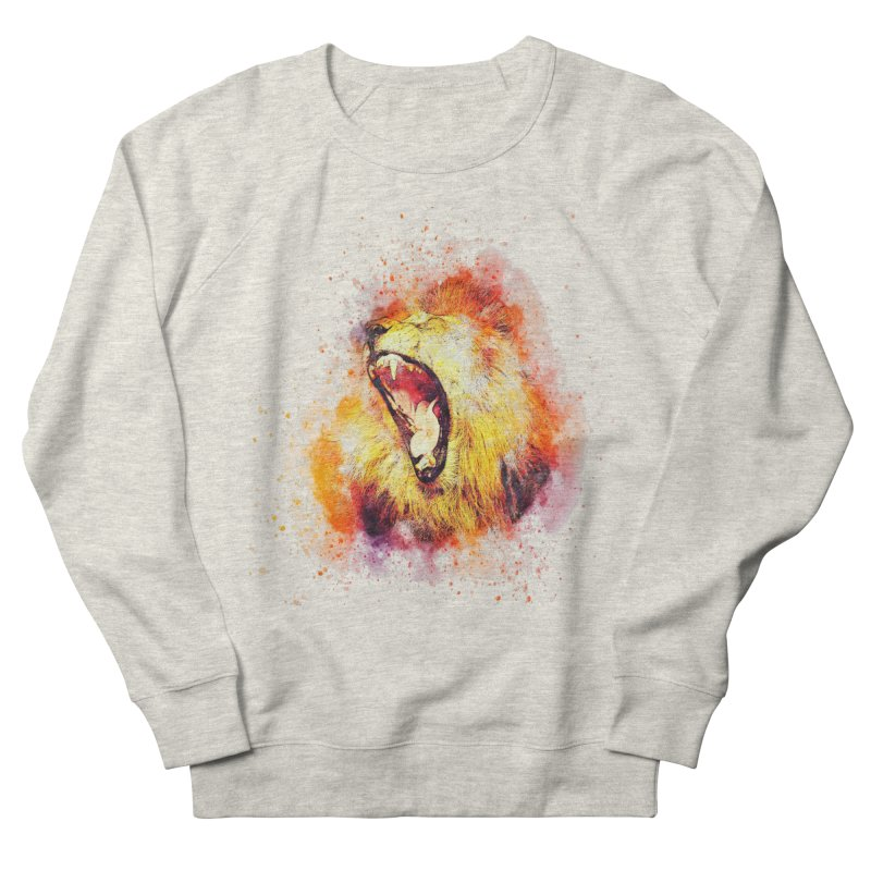 Let Them Hear You Roar Men's French Terry Sweatshirt by Divinitium's Clothing and Apparel
