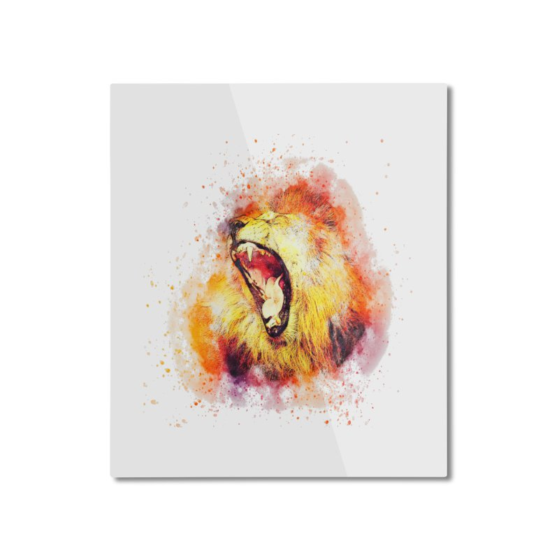 Let Them Hear You Roar Home Mounted Aluminum Print by Divinitium's Clothing and Apparel