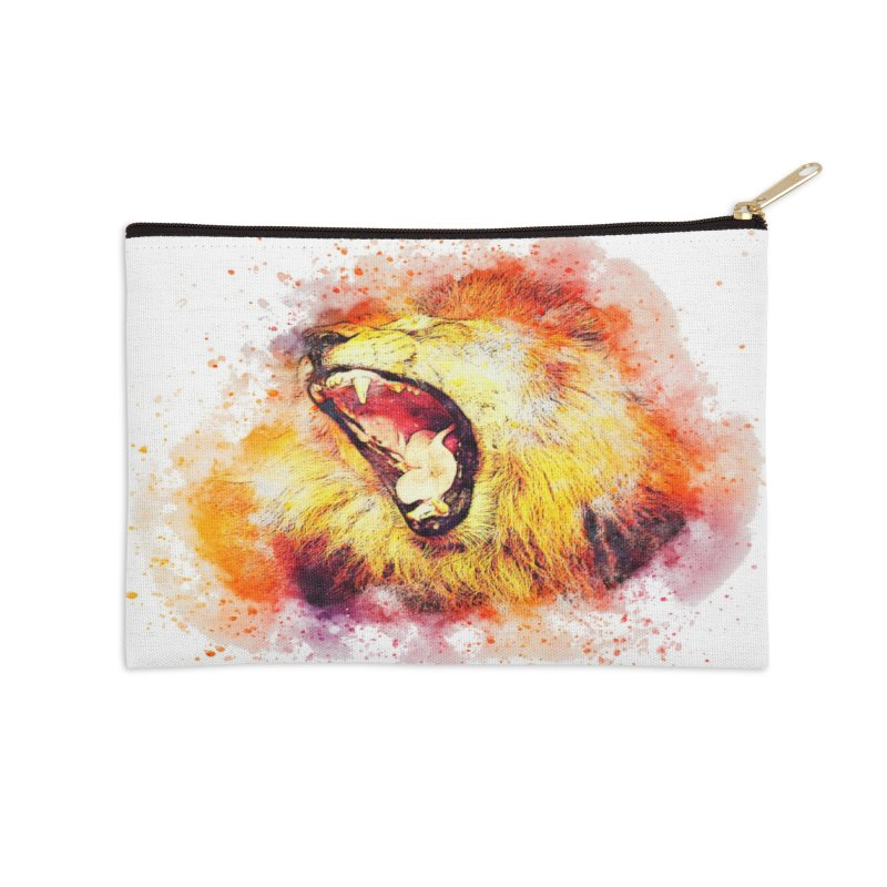 Let Them Hear You Roar Accessories Zip Pouch by Divinitium's Clothing and Apparel
