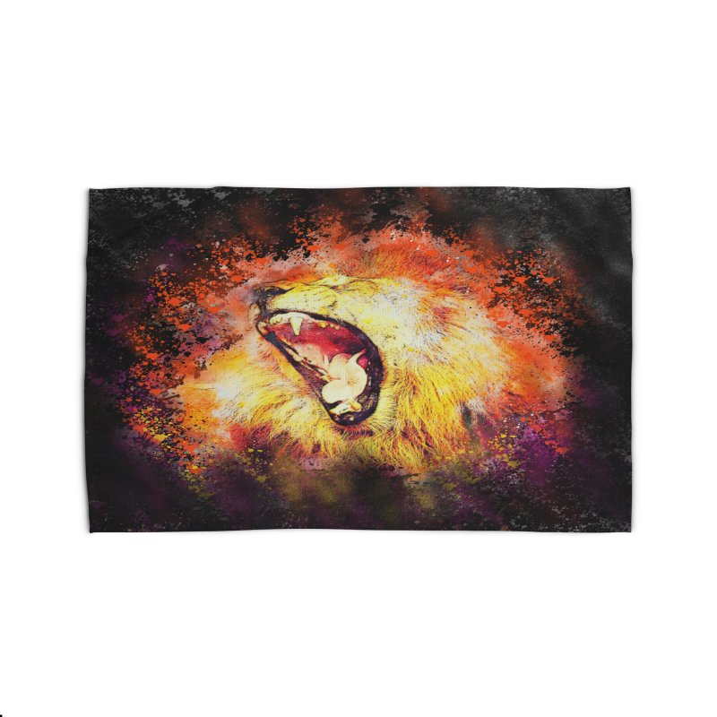Let Them Hear You Roar (Black) Home Rug by Divinitium's Clothing and Apparel