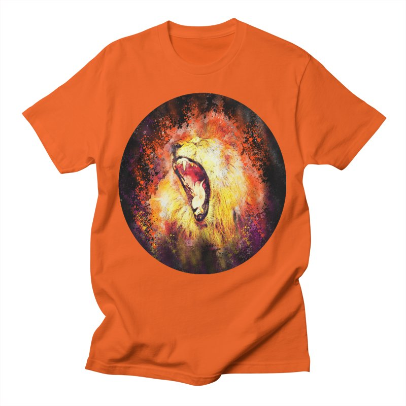 Let Them Hear You Roar (Black) Men's T-Shirt by Divinitium's Clothing and Apparel