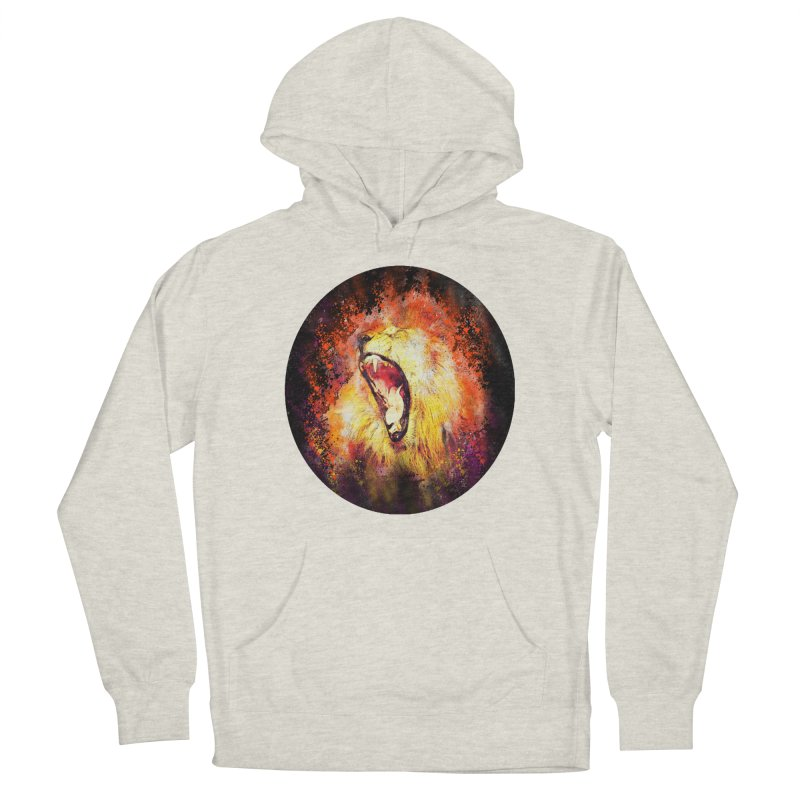 Let Them Hear You Roar (Black) Men's Pullover Hoody by Divinitium's Clothing and Apparel