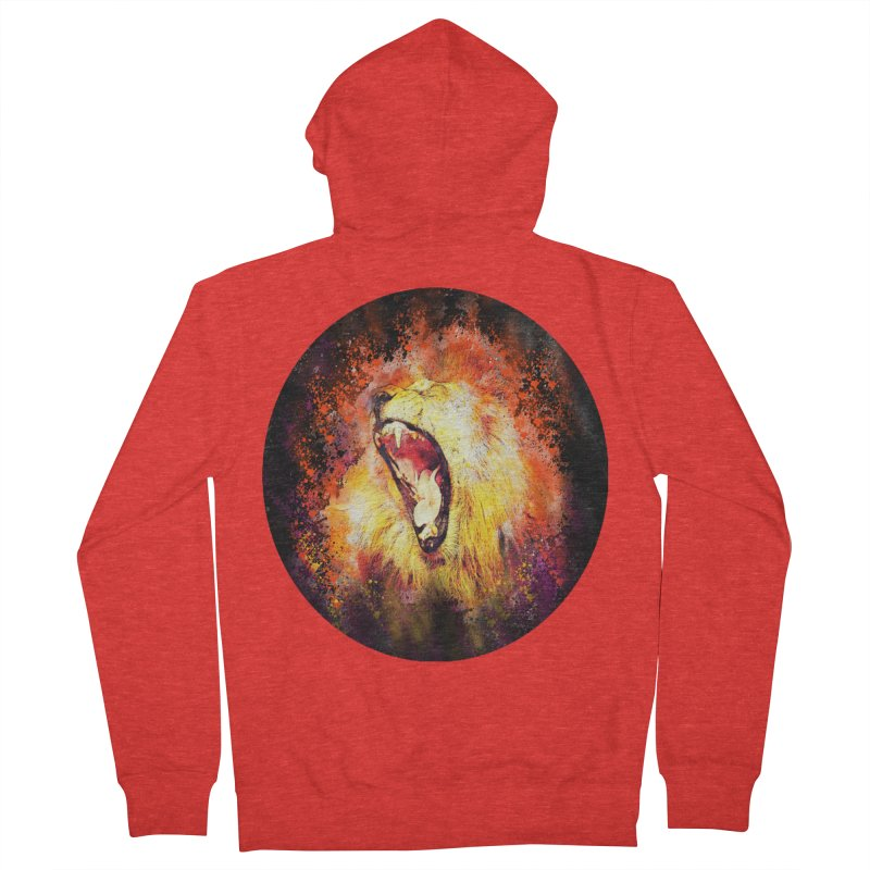 Let Them Hear You Roar (Black) Women's Zip-Up Hoody by Divinitium's Clothing and Apparel
