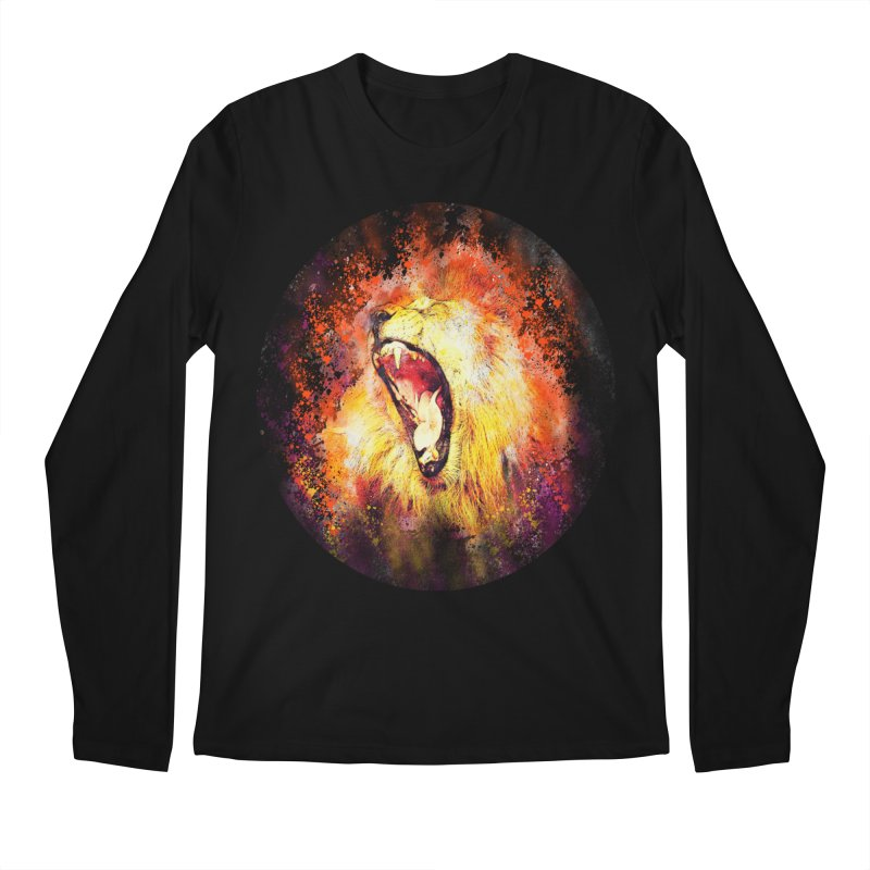 Let Them Hear You Roar (Black) Men's Regular Longsleeve T-Shirt by Divinitium's Clothing and Apparel
