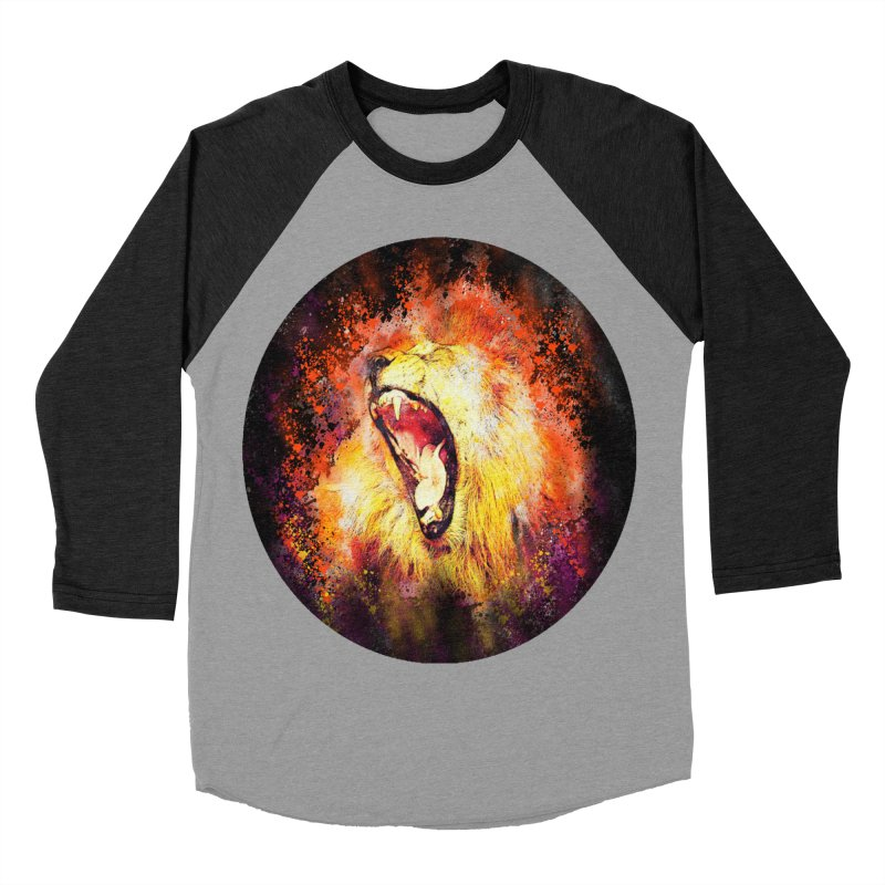 Let Them Hear You Roar (Black) Men's Baseball Triblend Longsleeve T-Shirt by Divinitium's Clothing and Apparel