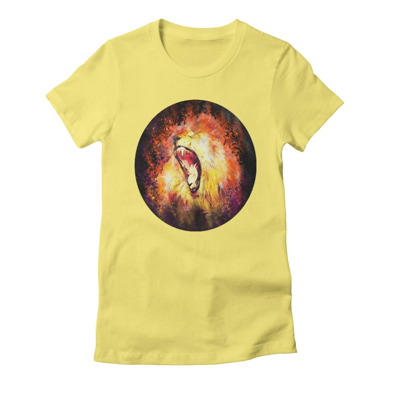Let Them Hear You Roar (Black) Women's T-Shirt by Divinitium's Clothing and Apparel