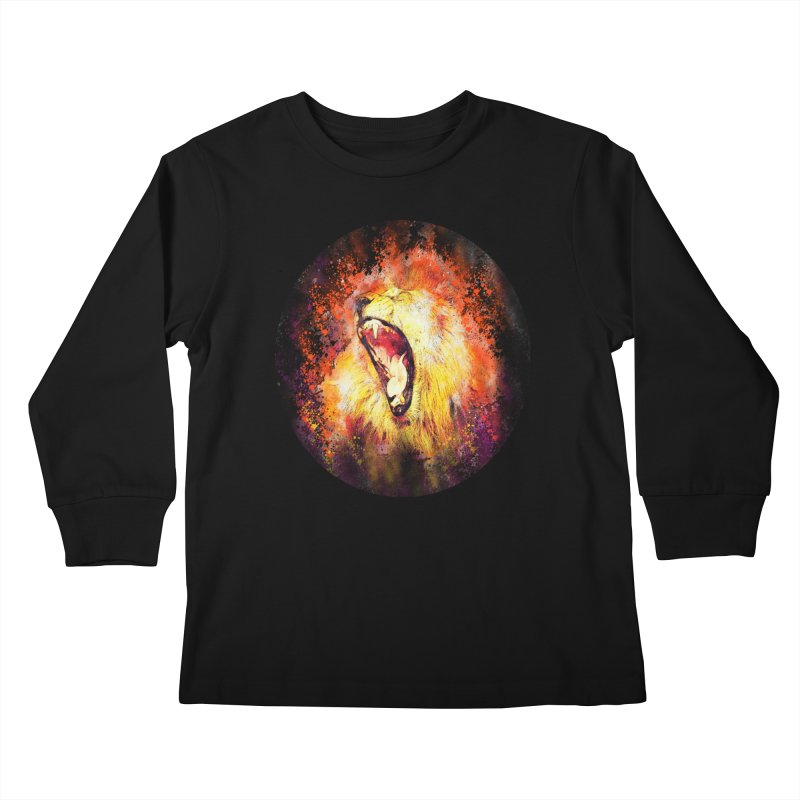 Let Them Hear You Roar (Black) Kids Longsleeve T-Shirt by Divinitium's Clothing and Apparel