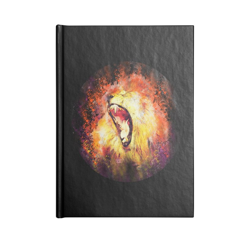 Let Them Hear You Roar (Black) Accessories Notebook by Divinitium's Clothing and Apparel