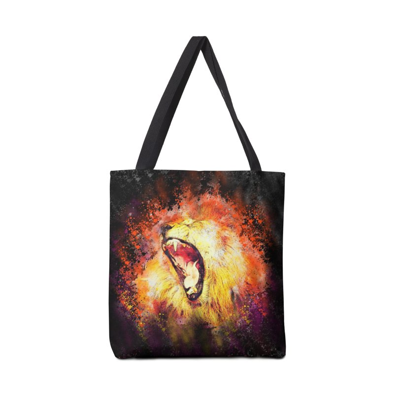 Let Them Hear You Roar (Black) Accessories Bag by Divinitium's Clothing and Apparel