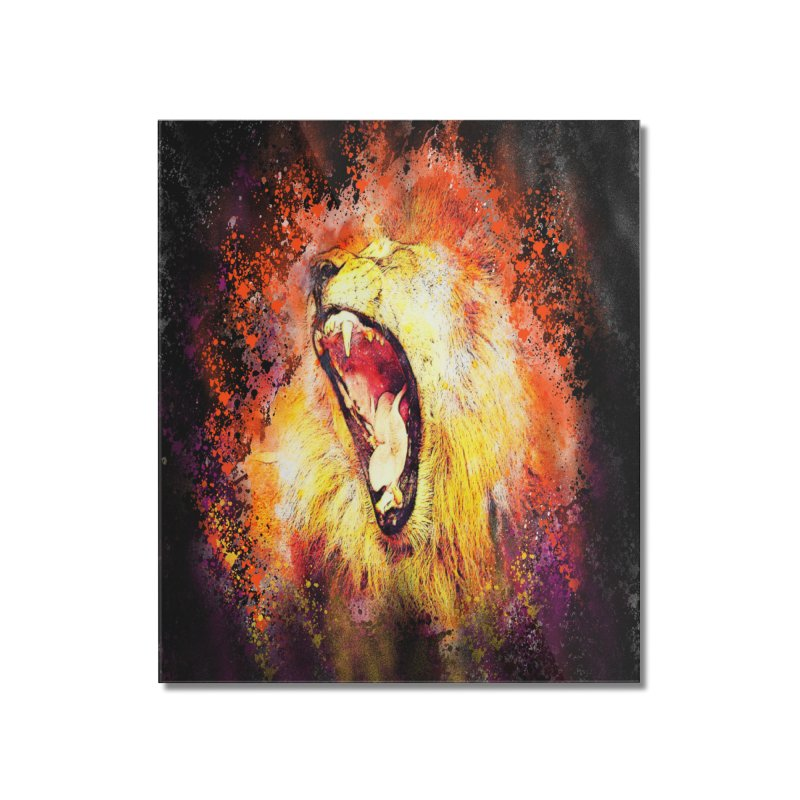 Let Them Hear You Roar (Black) Home Mounted Acrylic Print by Divinitium's Clothing and Apparel