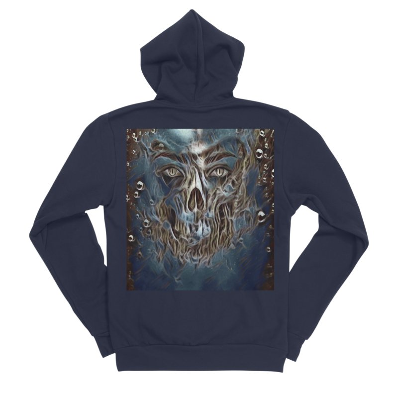 Abyss Men's Sponge Fleece Zip-Up Hoody by Divinitium's Clothing and Apparel