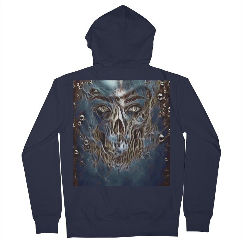 Abyss Men's French Terry Zip-Up Hoody by Divinitium's Clothing and Apparel