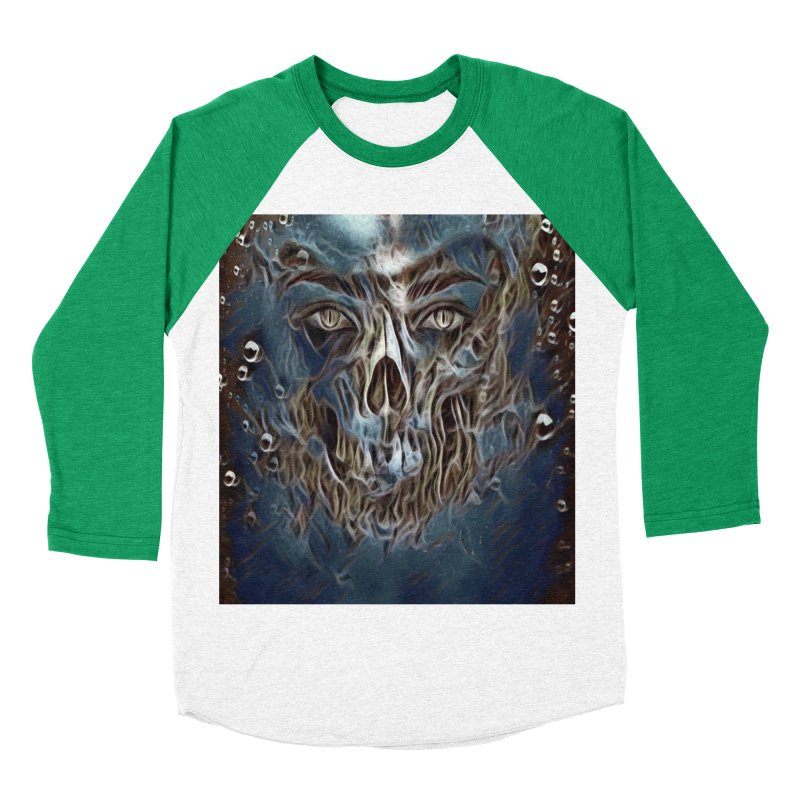 Abyss Men's Baseball Triblend Longsleeve T-Shirt by Divinitium's Clothing and Apparel