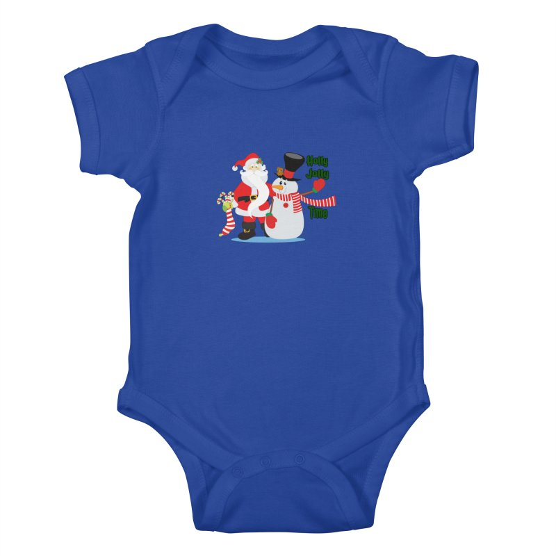 Holly Jolly Time Kids Baby Bodysuit by Divinitium's Clothing and Apparel
