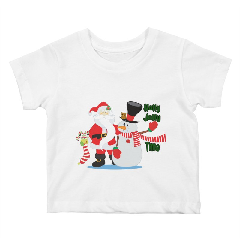 Holly Jolly Time Kids Baby T-Shirt by Divinitium's Clothing and Apparel