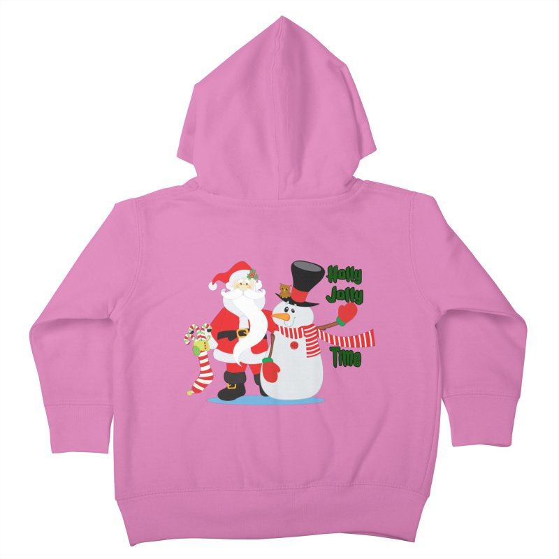 Holly Jolly Time Kids Toddler Zip-Up Hoody by Divinitium's Clothing and Apparel