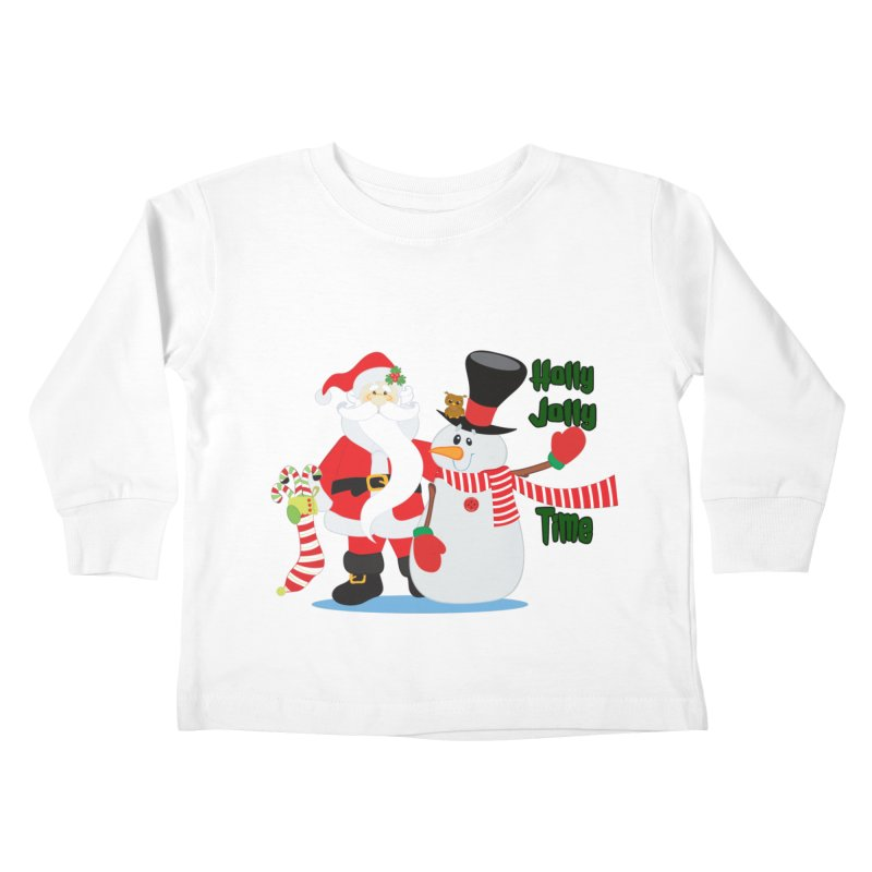 Holly Jolly Time Kids Toddler Longsleeve T-Shirt by Divinitium's Clothing and Apparel