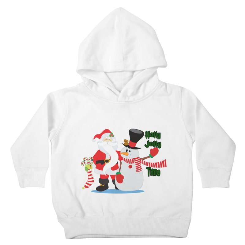 Holly Jolly Time Kids Toddler Pullover Hoody by Divinitium's Clothing and Apparel