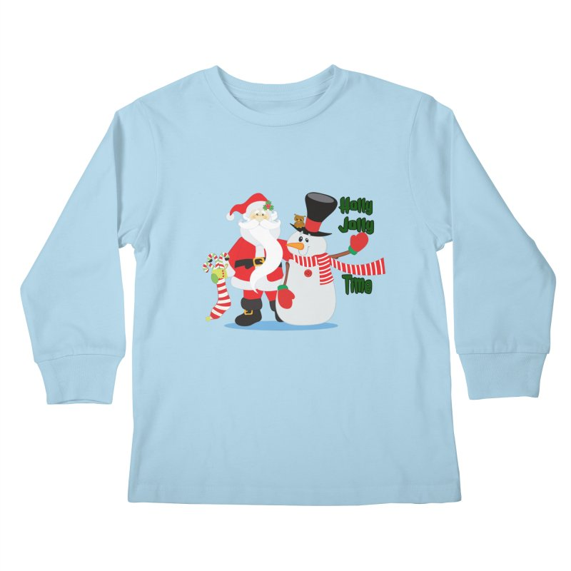 Holly Jolly Time Kids Longsleeve T-Shirt by Divinitium's Clothing and Apparel