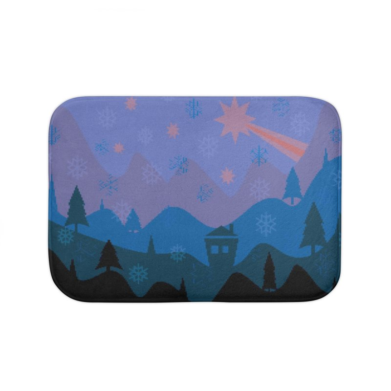 Winter Star Home Bath Mat by Divinitium's Clothing and Apparel
