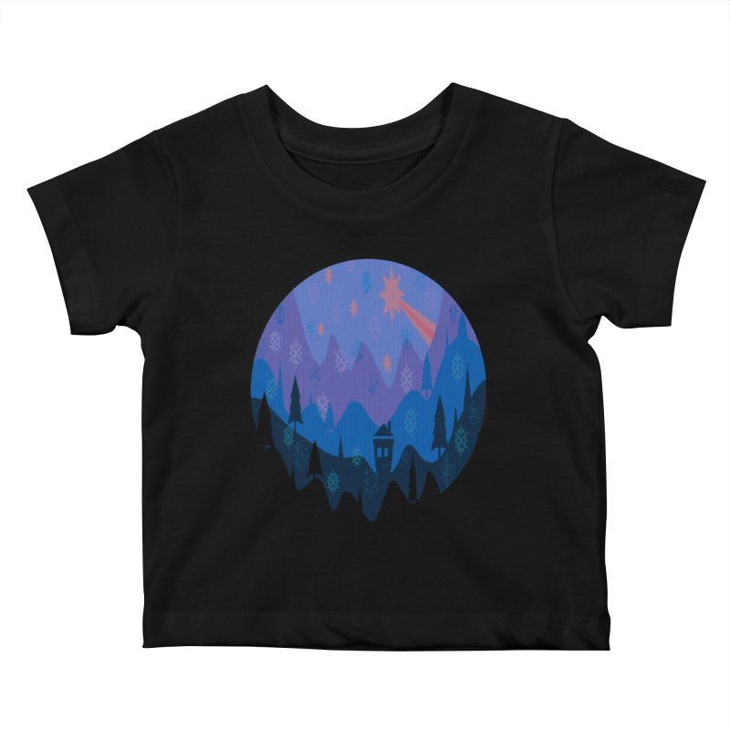 Winter Star Kids Baby T-Shirt by Divinitium's Clothing and Apparel