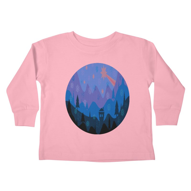Winter Star Kids Toddler Longsleeve T-Shirt by Divinitium's Clothing and Apparel
