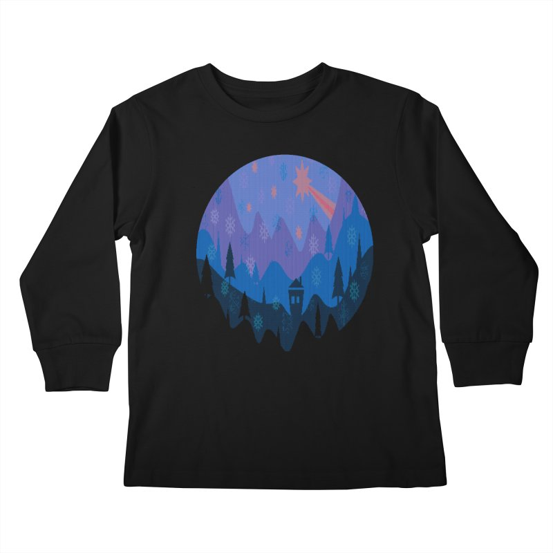 Winter Star Kids Longsleeve T-Shirt by Divinitium's Clothing and Apparel