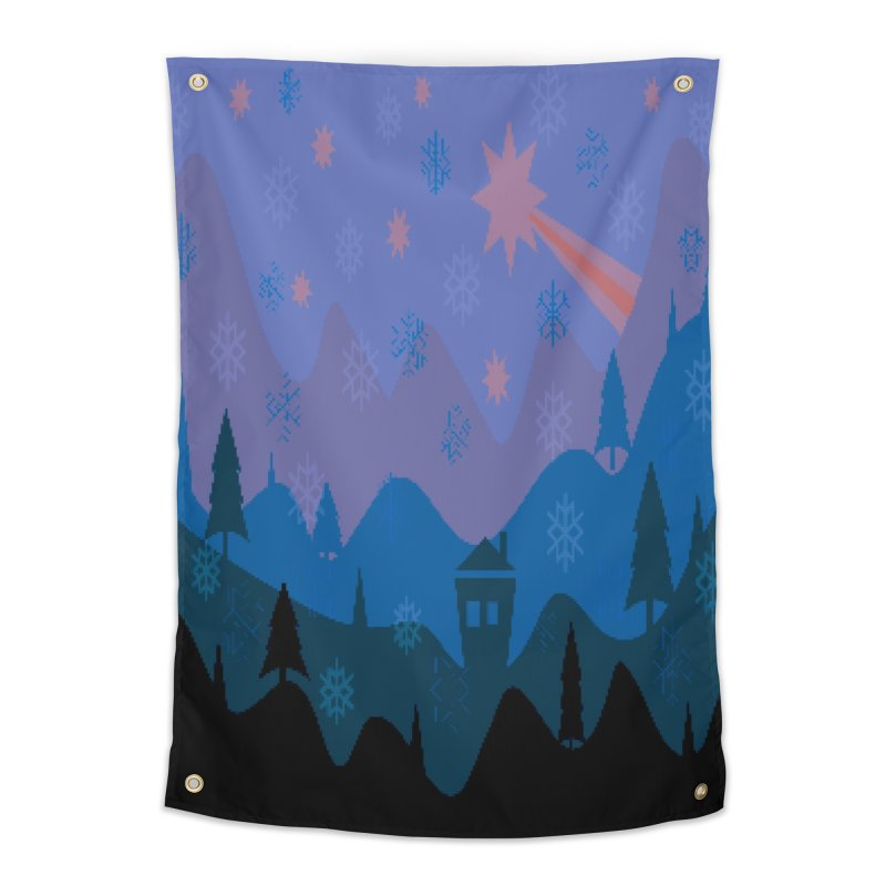 Winter Star Home Tapestry by Divinitium's Clothing and Apparel