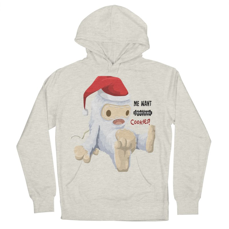 Me Want Cookies Men's French Terry Pullover Hoody by Divinitium's Clothing and Apparel