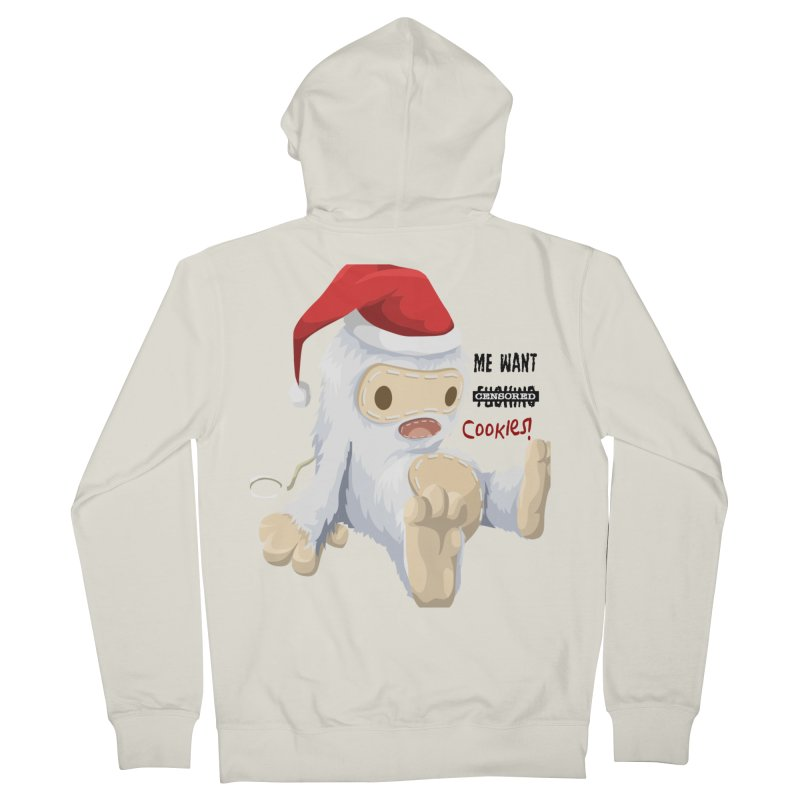 Me Want Cookies Men's French Terry Zip-Up Hoody by Divinitium's Clothing and Apparel