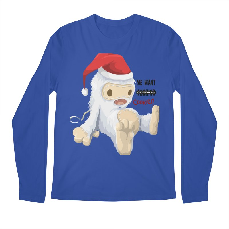 Me Want Cookies Men's Regular Longsleeve T-Shirt by Divinitium's Clothing and Apparel