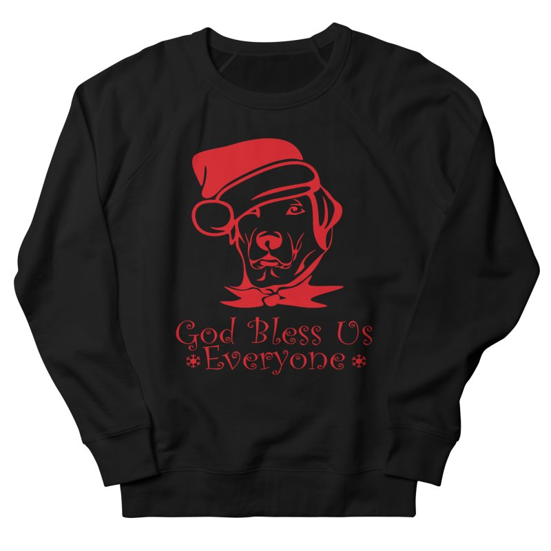 God Bless Us Everyone Men's French Terry Sweatshirt by Divinitium's Clothing and Apparel