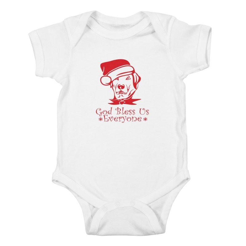 God Bless Us Everyone Kids Baby Bodysuit by Divinitium's Clothing and Apparel