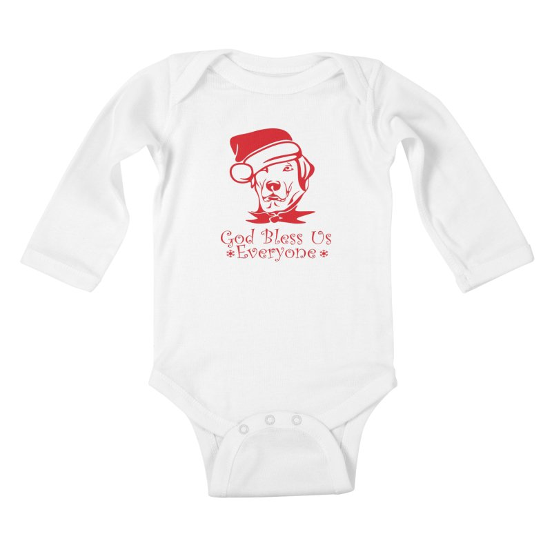 God Bless Us Everyone Kids Baby Longsleeve Bodysuit by Divinitium's Clothing and Apparel
