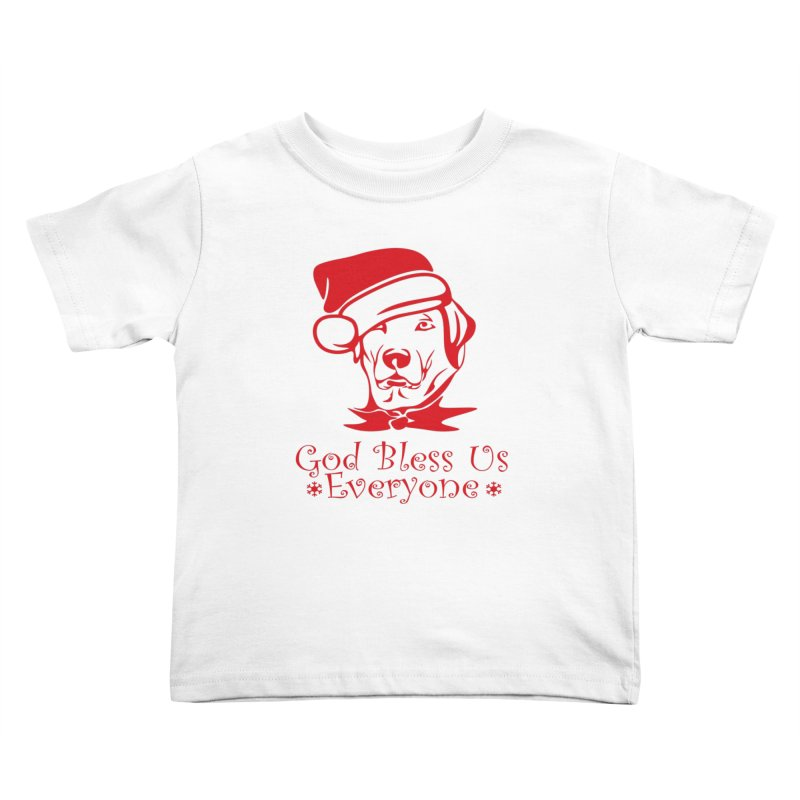 God Bless Us Everyone Kids Toddler T-Shirt by Divinitium's Clothing and Apparel