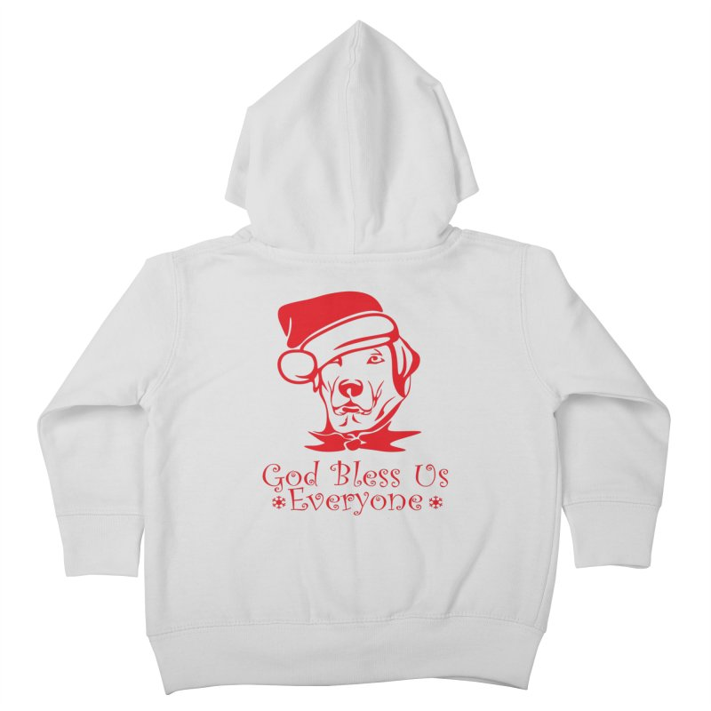 God Bless Us Everyone Kids Toddler Zip-Up Hoody by Divinitium's Clothing and Apparel