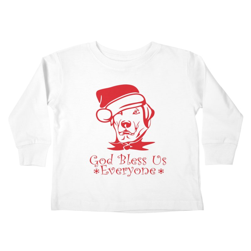 God Bless Us Everyone Kids Toddler Longsleeve T-Shirt by Divinitium's Clothing and Apparel